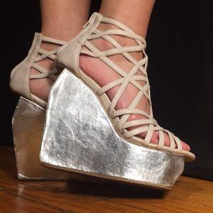 Jeffrey Campbell platform strapped heels 7